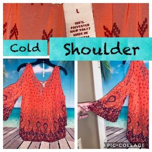 Cold shoulder sexy yet cute top